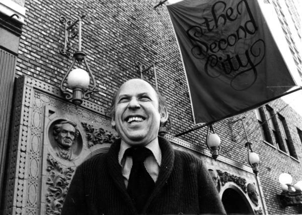 Bernie Sahlins outside The Second City.