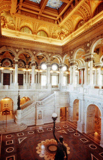 The Great Hall of the Library of Congress, which has been closed by the government shutdown.