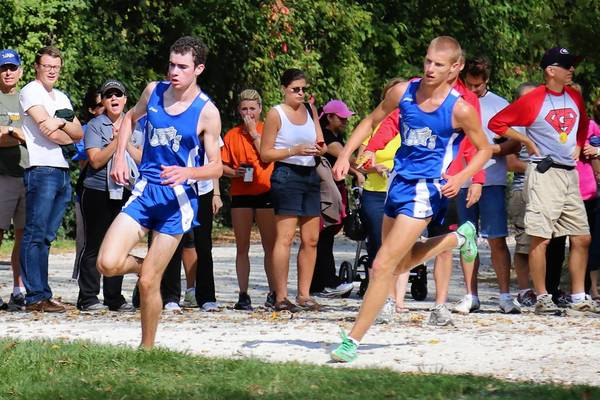 Vernon Hills runners Ben Mohrdieck and Kyle Whitney
