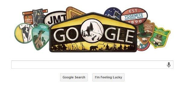 Tuesday's Google Doodle marks the 123rd birthday of Yosemite National Park.