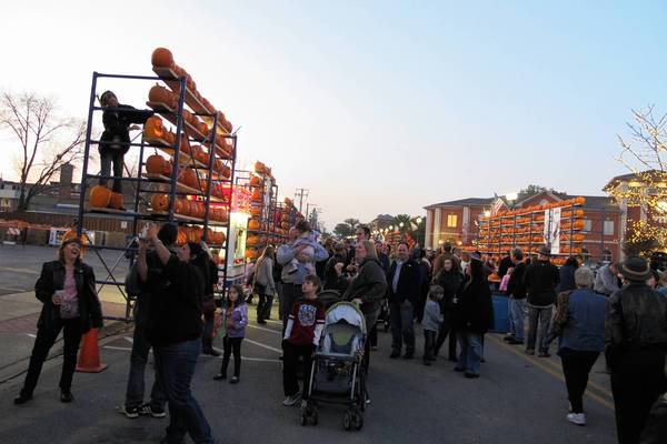 Festival-goers fill Waukegan Avenue in this photo from the 2011 Highwood Pumpkin Festival.