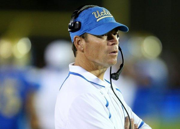 "UCLA Coach Jim Mora said the Pac-12's having five teams ranked in the top 25 ""speaks of the quality of football in the Pac-12. It my mind it has always been a powerful conference."""