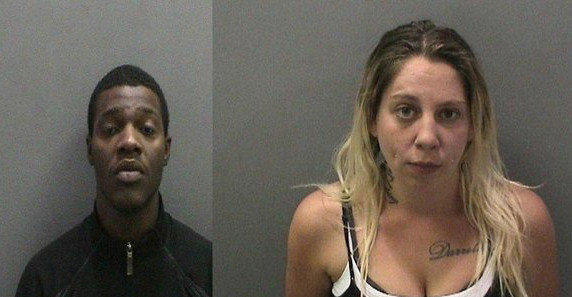 Dejon Pierre Moore, left, and Jennifer Kaye Moeggenberg are two of three people who have been charged in an alleged human trafficking case.