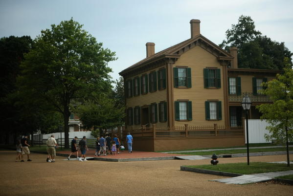 The Lincoln Home in Springfield, seen here in August 2011, is closed due to the federal government shutdown.