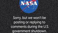 Federal Web presence curtailed by government shutdown