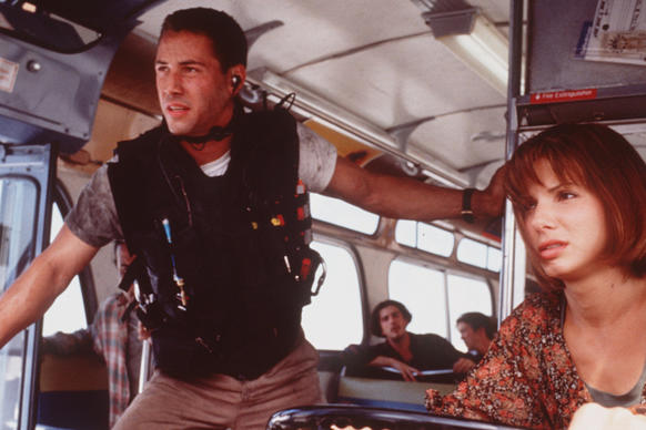 Bullock first staked a spot under the Hollywood spotlight playing Annie Porter, a civilian turned hero, in this critically acclaimed action-thriller. When costar Keanu Reeves boards the bus to address a bomb threat, Bullock finds herself essential in the capture of an ex-police officer gone rogue.