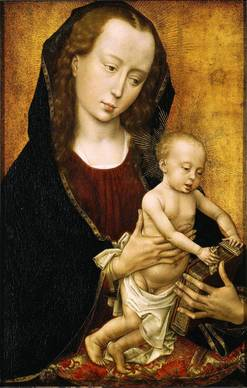 "Rogier van der Weyden's ""Virgin and Child,"" circa 1460, oil on panel, is the left panel of diptych."