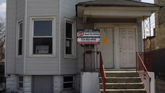 An Albany Park home is shown in foreclosure in a 2008 file photo.