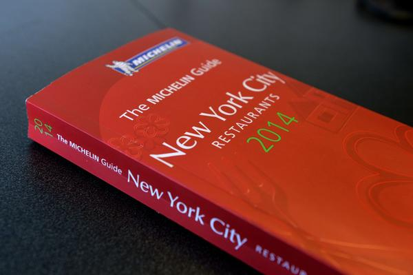 The 2014 Michelin Guide to New York City restaurants, just released October 1, 2013 in New York.