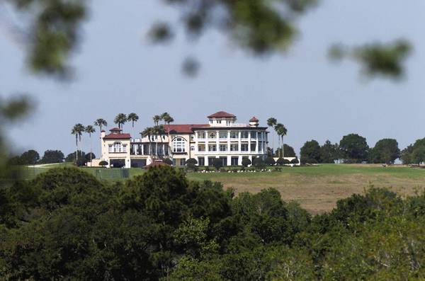 La Viance, seen here from SR-19 in Groveland, a mansion in south Lake County, will be auctioned again.