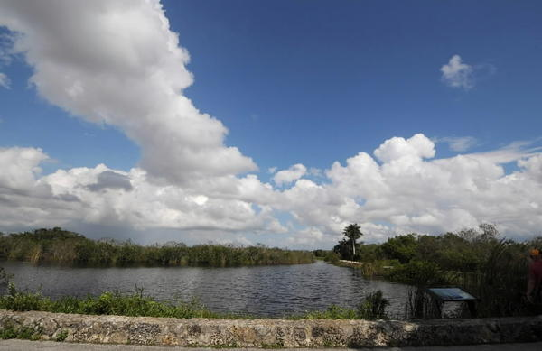 The Anhinga Trail at Royal Palm in Everglades National Park in Florida was virtually empty at 4 p.m., Tuesday, October 1, 2013, due to the government shutdown of the National Parks.