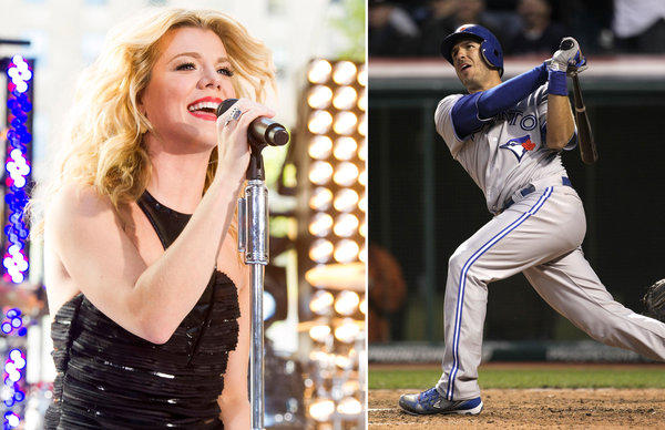 Kimberly Perry, lead singer of the Band Perry, is engaged to J.P. Arencibia of the Toronto Blue Jays.