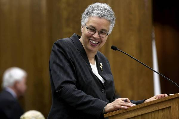 "Promising no new taxes, fees or fines in her upcoming budget proposal, Cook County Board President Toni Preckwinkle credits the board's ""tough decisions and our hard work"" over the last three years."