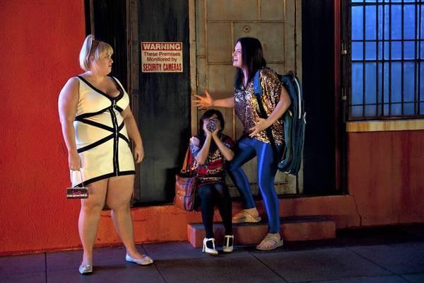 "Rebel Wilson, left, Liza Lapira and Lauren Ash star in ""Super Fun Night."""