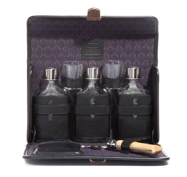 The portable leather Kentucky Cocktail Set is part of the Coach   Billy Reid limited-edition collection.