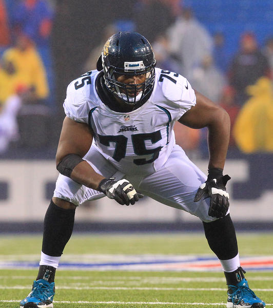 Offensive tackle Eugene Monroe seen here with the Jacksonville Jaguars last season.