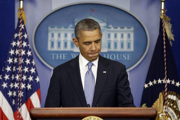 President Obama prepares to speak ahead of the government shutdown.