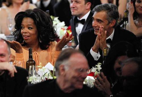 Oprah and former Fox Entertainment President Peter Liguori attend the 38th AFI Life Achievement Award honoring Mike Nichols.