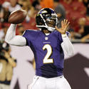 Tyrod Taylor with the Baltimore Ravens