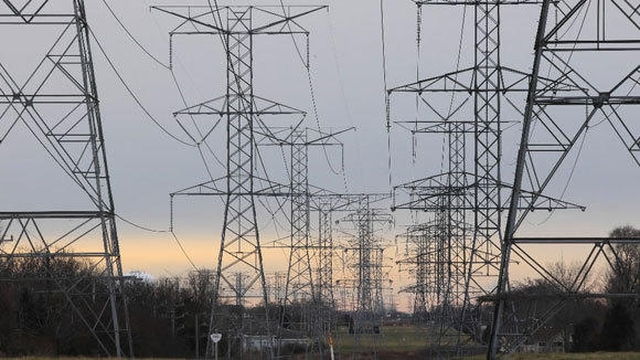 Power lines at a ComEd substation in Elgin are seen in a 2011 file photo.