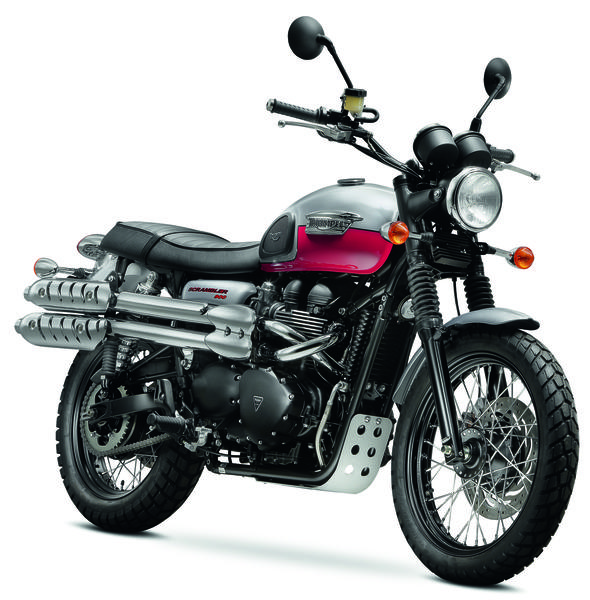 Triumph's 2014 lineup includes updated versions of timeless classics like the Bonneville and this Scrambler.