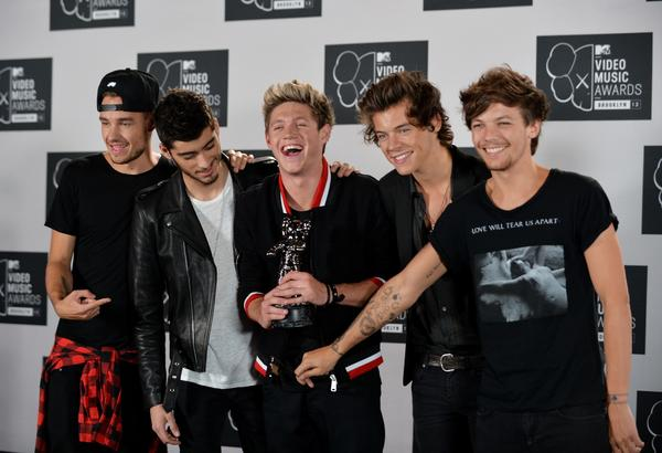"One Direction, shown in August at the MTV Video Music Awards in New York, will interact with fans during ""1D Day"" on Nov. 23."