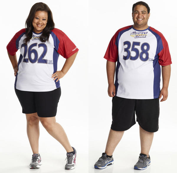 """The Biggest Loser"" contestants Tanya Winfred and Bobby Saleem -- (Photo by: Paul Drinkwater/NBC)"