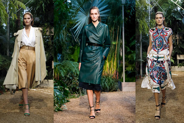 Looks from the spring/summer 2014 Hermes collection are shown during Paris Fashion Week.