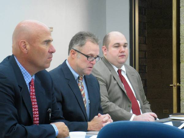 DuPage County Chairman Dan Cronin met with business representatives on Wednesday to look at alternative uses for the land currently occupied by the DuPage County Fair Association.