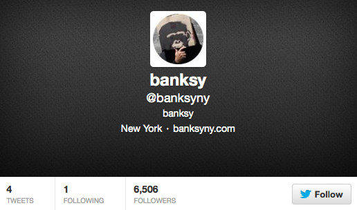 "Banksy started the first day of October with a new Twitter account promoting his New York ""residency,"" ""Better Out Than In."""
