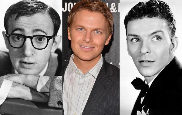 This collage shows Woody Allen (L) near the age of 25 circa 1960, a 25 year-old Ronan Farrow and Frank Sinatra (R) circa 1940, also near the age of 25. It was believed that Allen was Ronan's father, but actress Mia Farrow, Ronan's mother, recently revealed that Sinatra could be Ronan's real father.