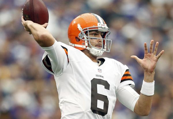 Browns quarterback Brian Hoyer.