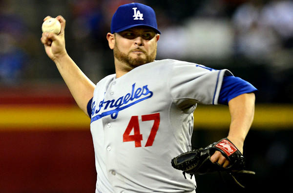 Veteran Ricky Nolasco is penciled in as the Game 4 starter for the Dodgers in the playoff series against the Atlanta Braves, but he wouldn't protest if ace Clayton Kershaw replaces him.
