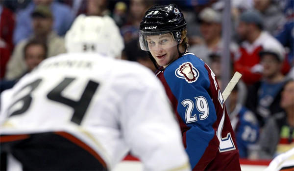 Colorado's Nathan MacKinnon, the No. 1 overall draft pick, had two assists for the Avalanche in the team's 6-1 victory over the Anaheim Ducks.