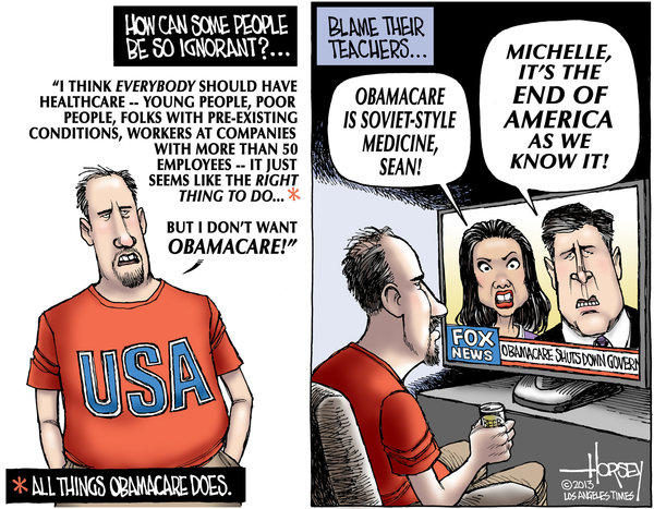 Ignorant voters hate Obamacare but love the Affordable Care Act