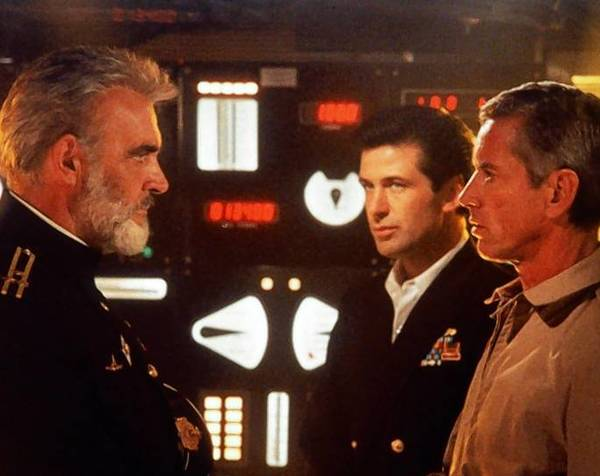 "Sean Connery, left, Alec Baldwin and Scott Glenn star in ""The Hunt for Red October."""