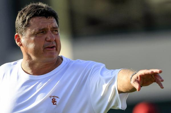 Ed Orgeron has reopened USC football practices to the media.