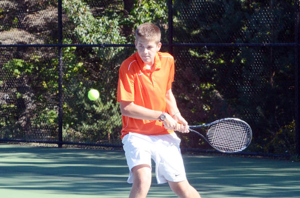 Harbor Springs' Ben Brushaber finished runner-up at No. 2 singles Wednesday at the Lake Michigan Conference quad tournament at Boyne Mountain. Brushaber fell to Traverse City St. Francis' Gus Danz, 6-0, 6-4, in the finals.