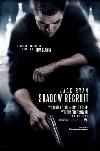 "The movie poster for ""Jack Ryan: Shadow Recruit."""