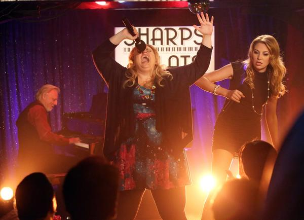 "Rebel Wilson, center, and Kate Jenkinson in a scene from ""Super Fun Night."""