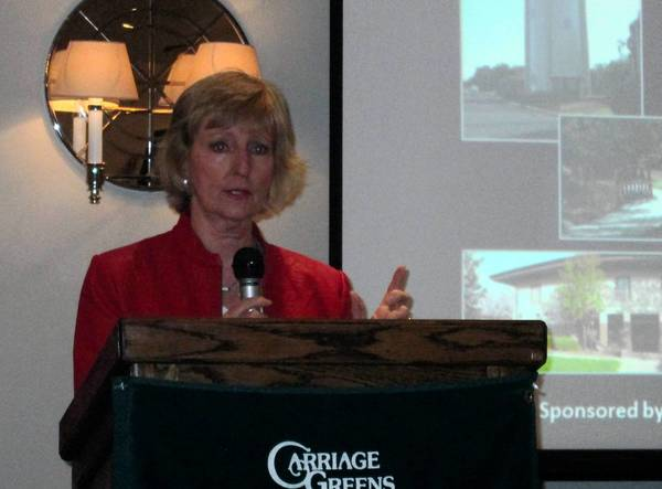 Darien Mayor Kathleen Weaver gave her state of the city address to a standing-room only crowd on Thursday
