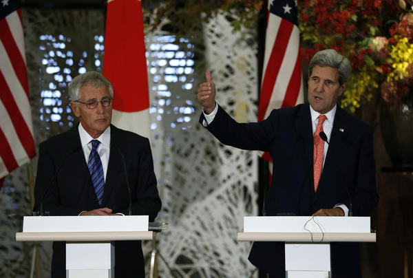 Defense Secretary Chuck Hagel, Secretary of State John Kerry