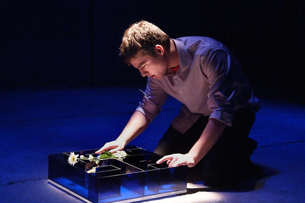 Daniel N. Durant as Charlie Gordon in Deaf West's 'Flowers for Algernon' at the Whitefire Theatre.