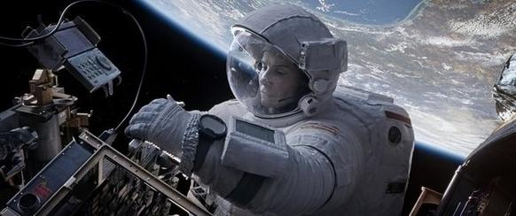 "Oscar winner Sandra Bullock stars as Ryan Stone in director Alfonso Cuaron's dramatic thriller ""Gravity."""