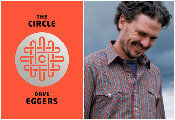 "The cover of ""The Circle"" and author Dave Eggers."
