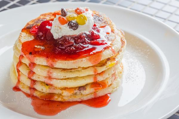 Peanut-butter-and-jelly pancakes are among the interesting menu items to be offered at a new Sunday brunch starting Oct. 20.