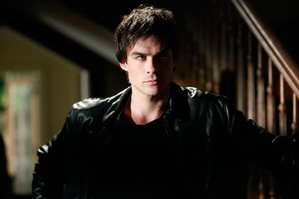 "Ian Somerhalder as Damon on CW's ""The Vampire Diaries."""