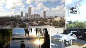 Quadcopter video: Downtown Orlando from above