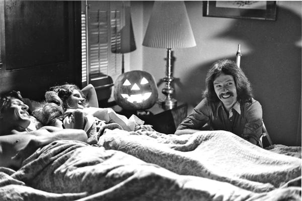 "Director John Carpenter (on far right) during the making of ""Halloween,"" now out on a special 35th anniversary edition on DVD and Blu-ray."