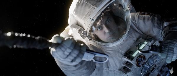 "Oscar winner George Clooney plays Mission Commander Matt Kowalski in ""Gravity."""